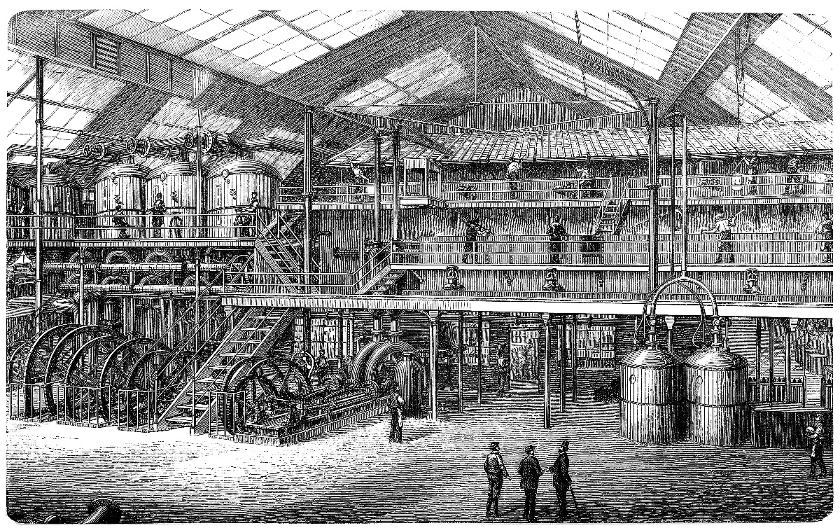 Sugar factory - Illustration