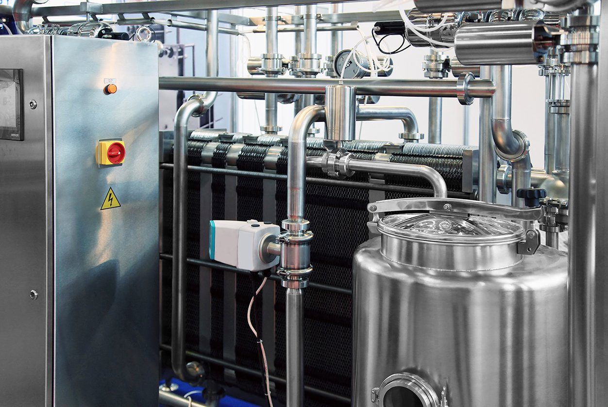 Milk processing stainless steel system