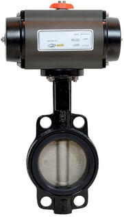 pneumatically-actuated-wafer-butterfly-valve